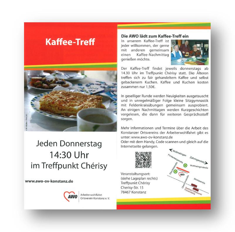 Flyer des Kaffeetreffs