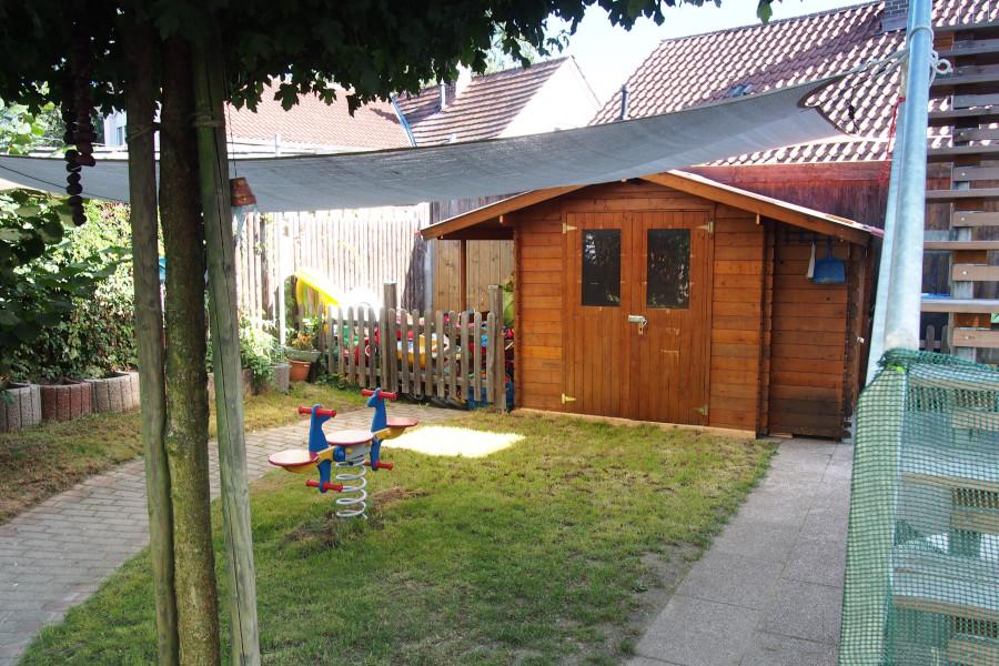 Gartenhäuschen der Villa Kunterbunt