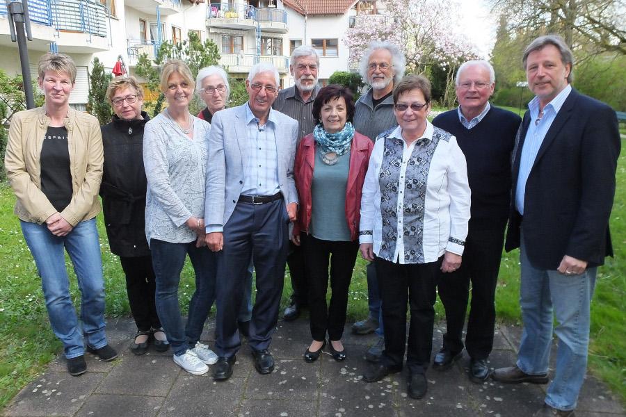 Vorstand des AWO Ortsvereins Gottmadingen 2015