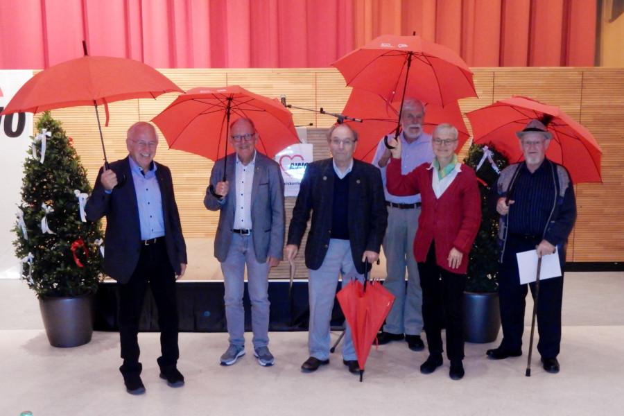 Geehrte Mitglieder auf der AWO Kreiskonferenz