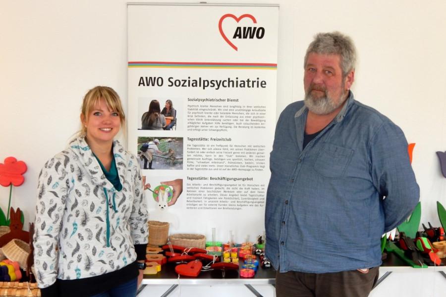 Marina Moll und Heike Behrendt vom Niederschwelligen Arbeitsangebot